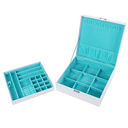 Songmics-Caja-joyero-Organizador-para-bisuteras-26-x-26-x-10-cm-JDS305W