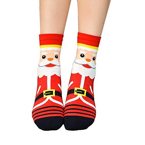 iHENGH Vorweihnachtliche Karnevalsaktion Damen Herbst Winter Bequem Lässig Mode Frauen Weihnachten Frauen Mädchen Casual Socken Cute Unisex Cotton Soft Breathable Warm Socks
