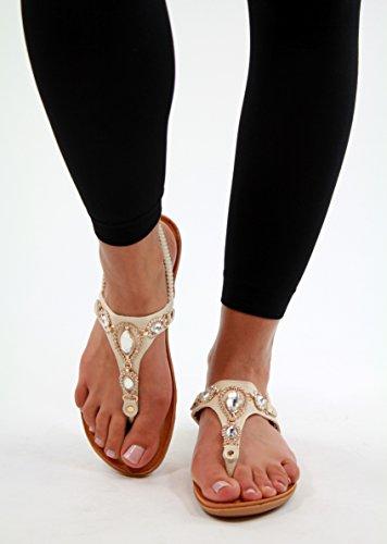 Generic - Strap alla caviglia donna Beige