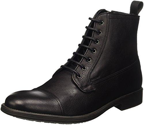 Geox Herren U Jaylon B Kurzschaft Stiefel, Schwarz (BLACKC9999), 42 EU
