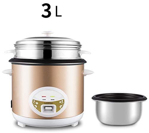 Reiskocher 5L 4L 3L Warmhaltefunktion Hochwertiges Gold-Innentopfspatel für bis zu 12 Personen Messbecher Reis 3L