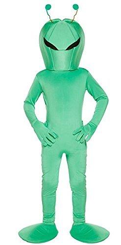 Kinder Alien Kostüm - Grün, Large (10-12 Years) (Alien Kostüme Mädchen)