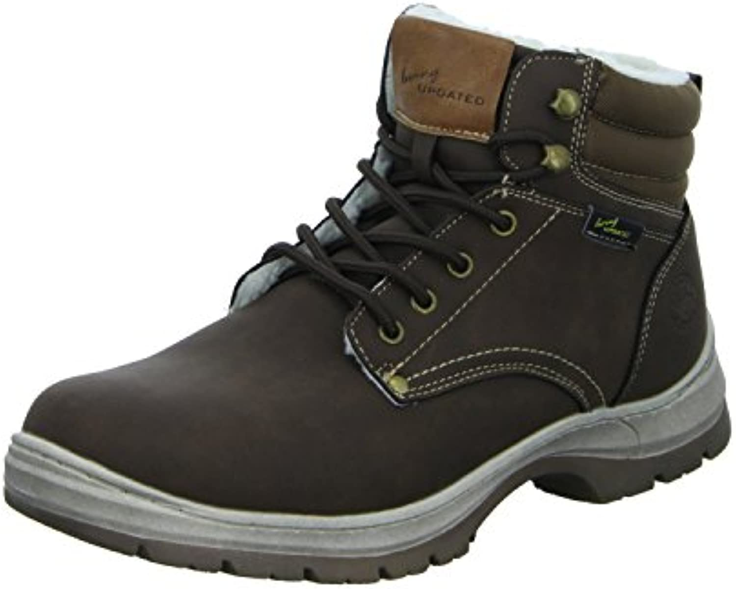 living Updated DA7591C Herren Schnürstiefelette Warmfutter