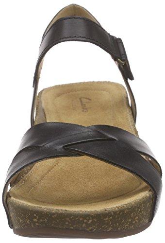 Sandálias Compasso Aberto Temira couro Preto Senhoras Preto Clark xEITwqaT