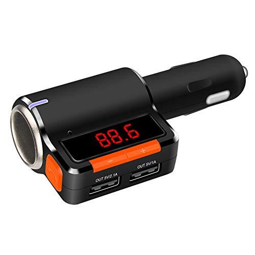 funkadapter lautsprecher BYSK Kfz-Ladegerät FM-Transmitter-Funkadapter, Bluetooth-Empfänger, App-Unterstützung, Dual-USB-Autoladegerät-Ausgang