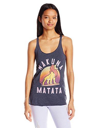 Disney Women's Lion King Hakuna Matata Graphic Tank, Navy Heather - S, L, XL