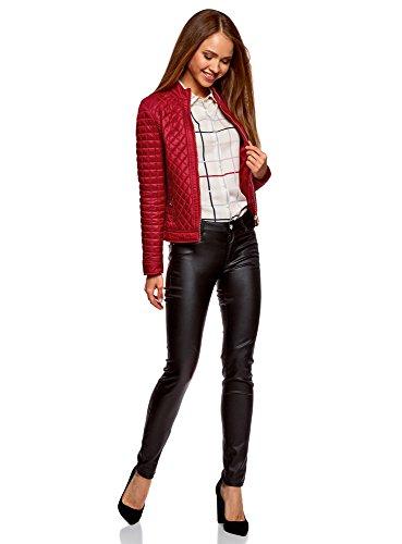 oodji Collection Damen Steppjacke mit Reißverschluss Rot (4500N)