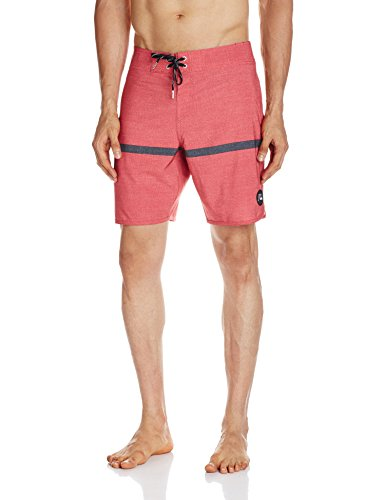 Quiksilver Herren Stripe Scallop 18 Zoll Board Shorts American Beauty