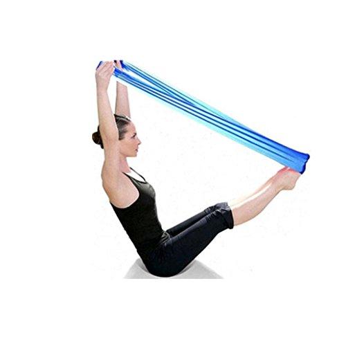 UIarma Fitnessbänder Übungsband Stretch Out Strap Pilates Yoga Workout Aerobic elastisch dehnbaren Band Gurt (Blau)