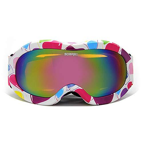 Gafas de esquí para niños de 3 a 8 años de edad