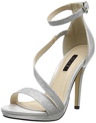 Rock on Styles - Zapatos de tacón mujer , color Plateado, talla 39