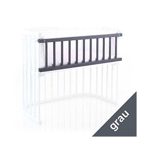 Babybay Guardrail for Maxi/Boxspring, grey varnished babybay Interlocking grate for Maxi and Boxspring cot bed Attaches quickly and easily Safe, sturdy and robust 3