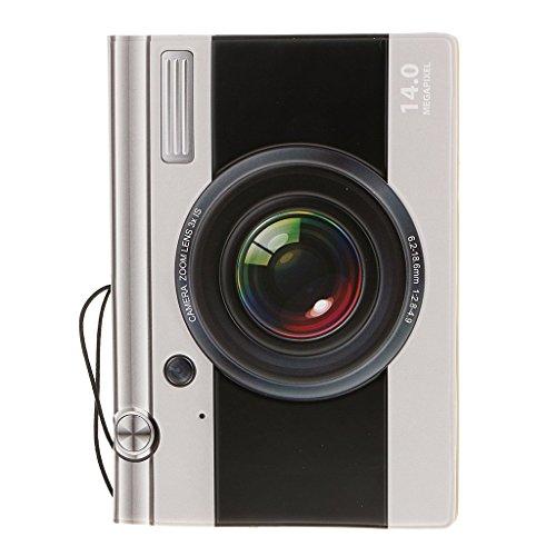 danapp 3D Kunstleder Dokumente Sets Passport Halter Passport Sets Ausland Travel Supplies camera (Herren-passport-halter)
