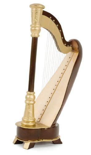 miniature-harp-varnished-wood-decorative-item-music-gift-delivered-with-its-box-height-16-cms-width-