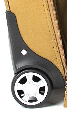 Cortez - Business-Trolley mit entfernbarer Laptophülle - Kolumbianisches Echtleder - Handgepäcksgröße - Cognac Hellbraun