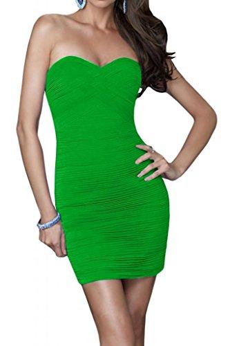 Generic étui de protection simple en forme de cœur coloris abendkleider court cocktail robe en chiffon pour demoiselle d'honneur Vert - Vert