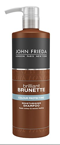 John Frieda Brilliant Brunette Colour Protecting Moisturising Shampoo, 500 ml