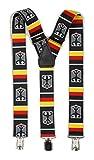 Extrem breite & Elastische Hosenträger mit 3 Metall Clips Y Form in verschiedenen Farben (Deutschland mit Wappen)