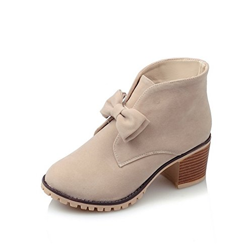 balamasa-womens-chunky-heels-spun-gold-bowknot-pull-on-beige-frosted-boots-45-uk