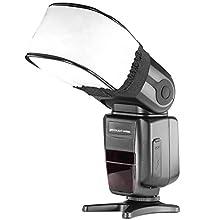 Neewer® Pro Universal Soft Mini Flash Bounce Diffuser Cap for On Camera or Off Camera Flash Gun, for Canon, Nikon, Sunpak, Vivita Flash, Nissin, Sigma, Sony, Pentax, Olympus, Panasonic Lumix Flashes