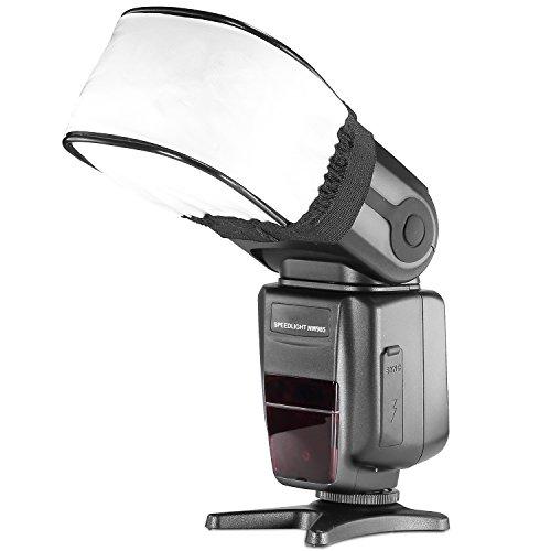 Neewer Pro Universal Stoff Diffusor für Blitzlicht Kompaktblitze Canon, Nikon, Sunpak, Vivita Flash, Nissin, Sigma, Sony, Pentax, Olympus, Panasonic Lumix