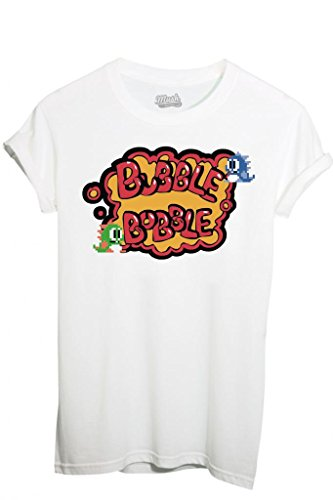 T-Shirt BUBBLE BUBBLE - GAMES by iMage Dress Your Style - Bambino-S-BIANCA