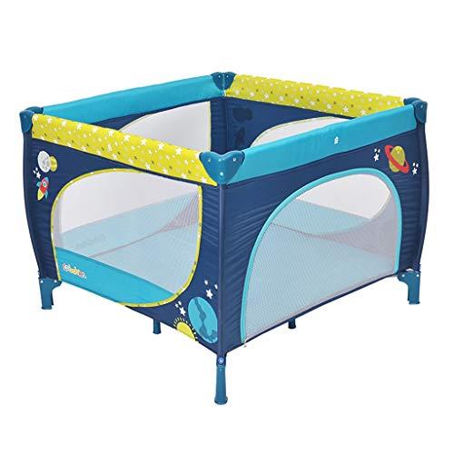 Clôture de jeu Lit Pliable Lit De Jeu Multifonctionnel pour Enfants Parc De Jeu Portable Aire De Jeux Intérieure Poids De Support 65kg (Color : Blue, Size : 100x100x76cm)