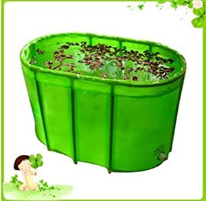 happy life wholesale green double folding bathtub bath. Black Bedroom Furniture Sets. Home Design Ideas