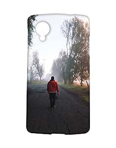 Mobifry Back case cover for LG Google Nexus 5 Mobile ( Printed design)