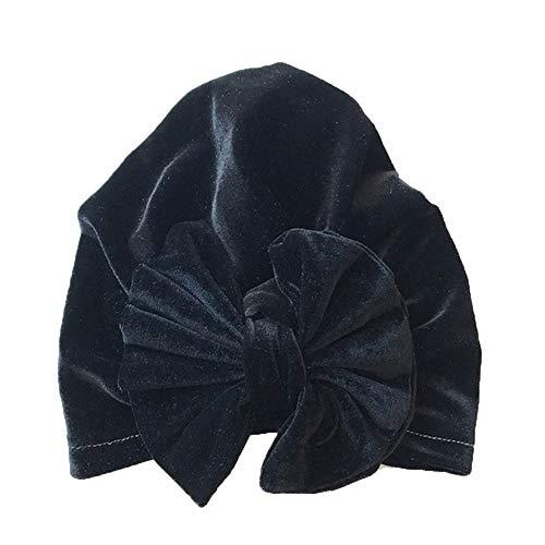 Lazzboy 1pc Toddler Kids Baby Boy Girl Bowknot Turban Beanie Hat Headwear Mütze Neugeborene Mädchen Knoten Stirnband Kleinkind Warm Weich Kopfdeckung Süße Hut(A)