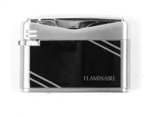 Flaminaire schwarz diagonale Streifen Flint Gas-Feuerzeug