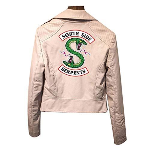 XXW Riverdale PU-Leder-Jacken Damen Southside Serpents Moto Biker Coat Cosplay (Moto-leder-jacke)