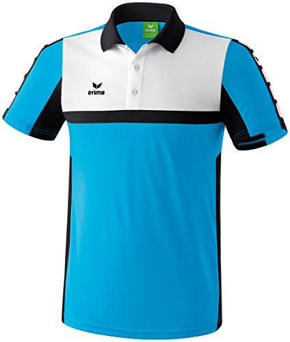 CLASSIC 5-CUBES Poloshirt Curacao/Schwarz/Weiß