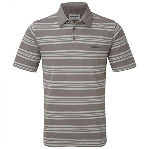 Craghoppers Mens Creston Short-Sleeved Lightweight Pique Polo Shirt Grau/Weißgrau