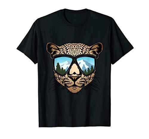 Leopard mit Skibrille Snowboardbrille - Winter Ski Snowboard T-Shirt