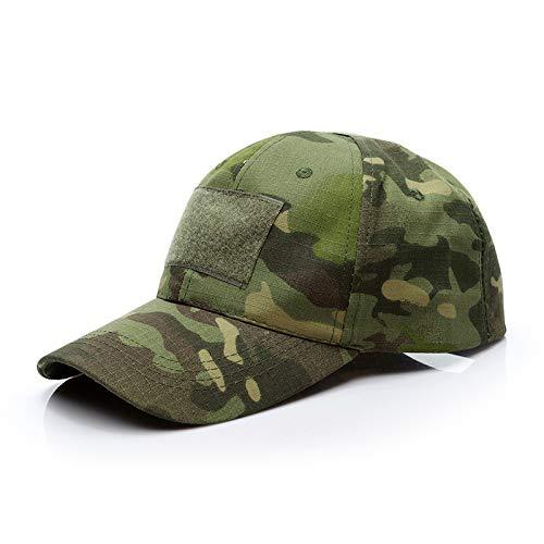 zlhcich Flache Kappe des männlichen Tarnungshutes der Baseballmütze des Armeefans im Freien