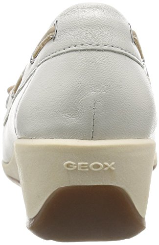 Geox - D Arethea A, Mocassini Donna White