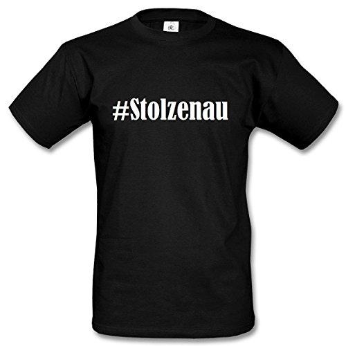 T-Shirt #Stolzenau Hashtag Raute für Damen Herren und Kinder ... in den Farben Schwarz und Weiss Schwarz
