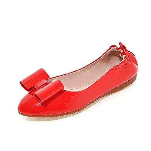 fashion chaussures de Dame egg roll/La version coréenne de chaussures bow fond mou/chaussures pointues en eau peu profonde A