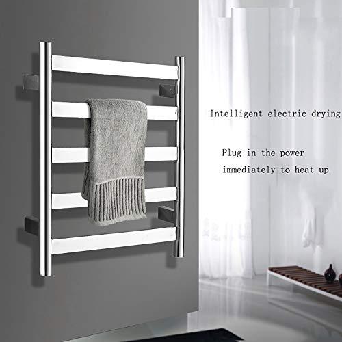 Electric Handtuchwärmer Schale Bärchen Polnisch Chrome Hard-Wired und Wandmontage, 5 beheizte Bars, heißes Handtuch-Rack