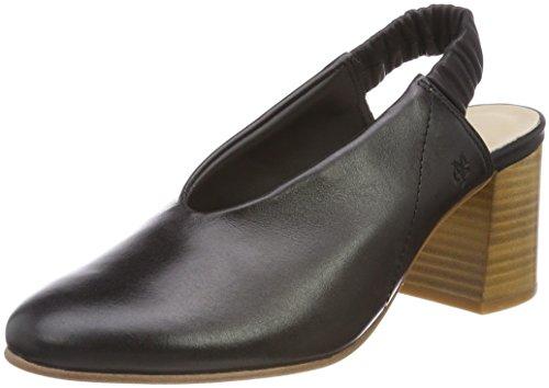 Marc O'Polo Damen Mid Heel Sling 80214392002101 Slingback Pumps, Schwarz (Black), 40 EU