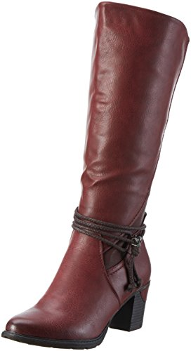 angschaft Stiefel, Rot (Wine/Pomerol/Bordeaux/35), 38 EU (Die Roten Stiefel Frauen)