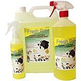 FRESH PET Pack Kennel/Cattery Disinfectant, LEMON 250ml Spray, 1L Spray Plus 5L