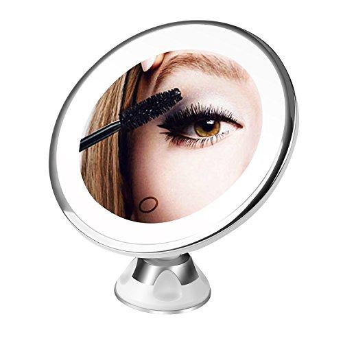 BESTOPE Kosmetikspiegel 10X Make-up Spiegel, Beleuchtet Schminkspiegel mit 10x Vergrößerung und...