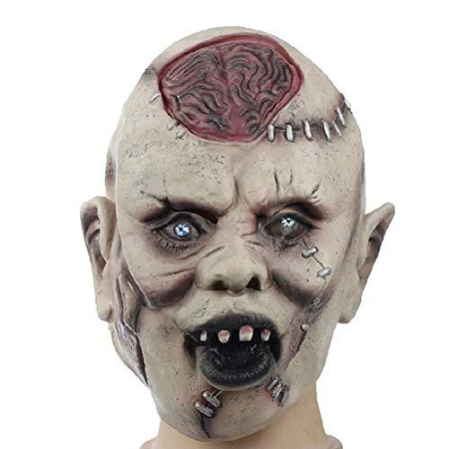 Toyvian Halloween Masken Kostüm | Latex Scary Zombie Gehirn - Maskerade Requisiten liefert