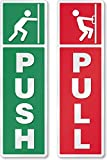 #9: Asmi Collections Self Adhesive Push And Pull Sign Stickers - Set Of 4