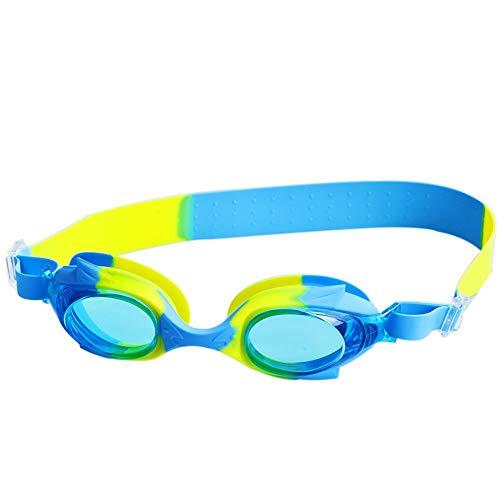 SFHGmit brille neuen schwimmen brille schwimmen brille wasserdicht, nebel beweise und uvbweis erwachsene,blau - gelb