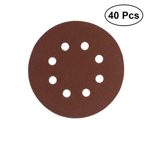 UEETEK 40 stücke 8 Loch 5 Zoll Schleifscheiben runde 60 80 120 210 Grit Für Bosch PEX 220/300 Random Orbitalschleifer 125mm