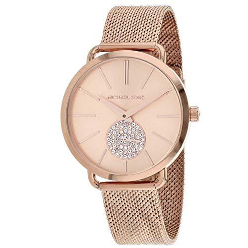 Michael Kors Damen Analog Quarz Uhr mit Edelstahl Armband MK3845