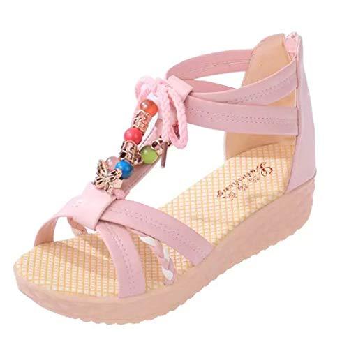 Vovotrade  Moda Donna Bohemian Scarpe da Spiaggia con Perline Decorate Antiscivolo Cinturino alla Caviglia
